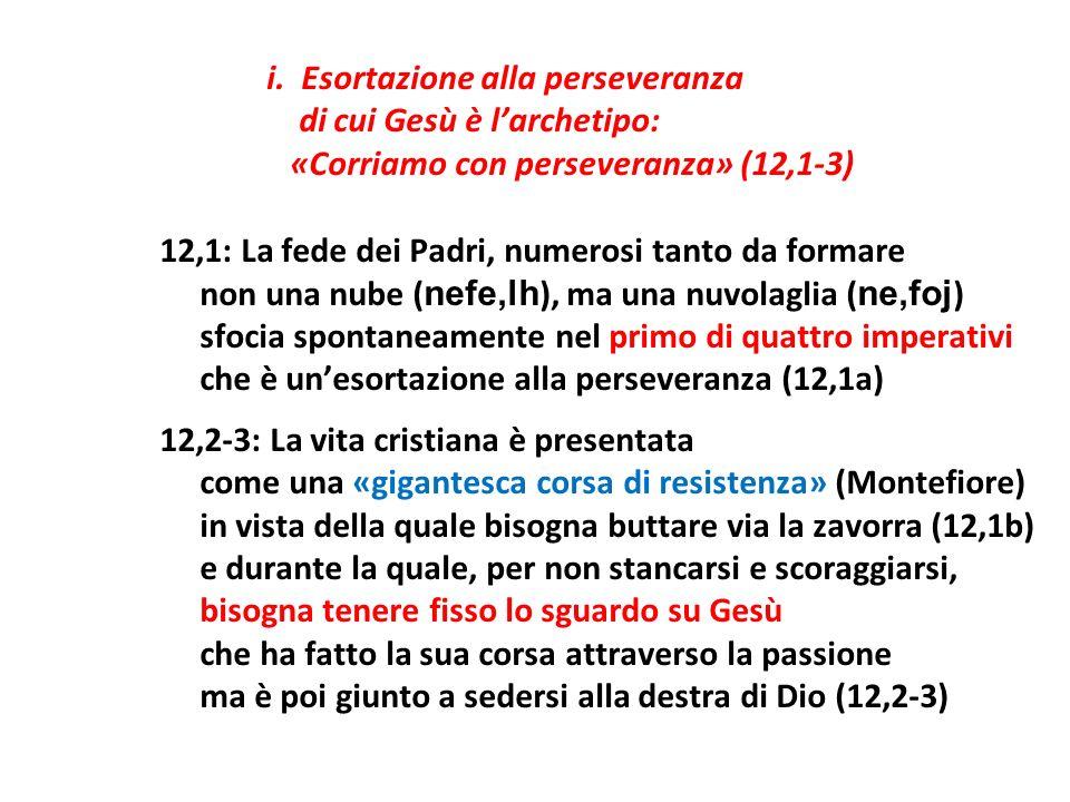 di cui Gesù è l'archetipo: «Corriamo con perseveranza» (12,1-3)