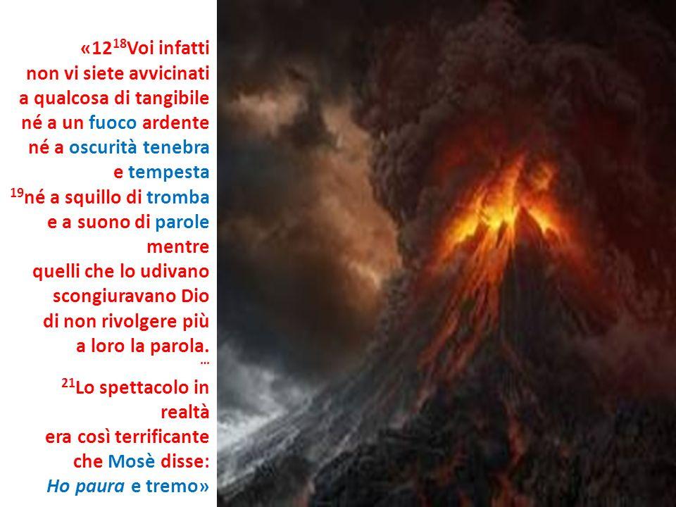 «1218Voi infattinon vi siete avvicinati. a qualcosa di tangibile. né a un fuoco ardente. né a oscurità tenebra.