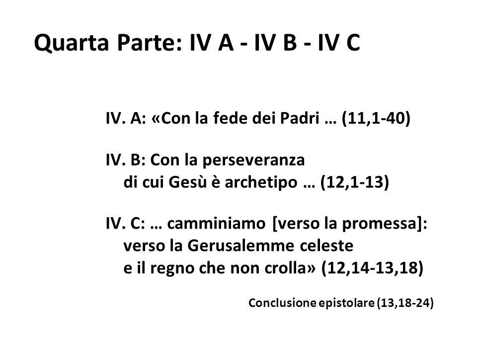 Quarta Parte: IV A - IV B - IV C