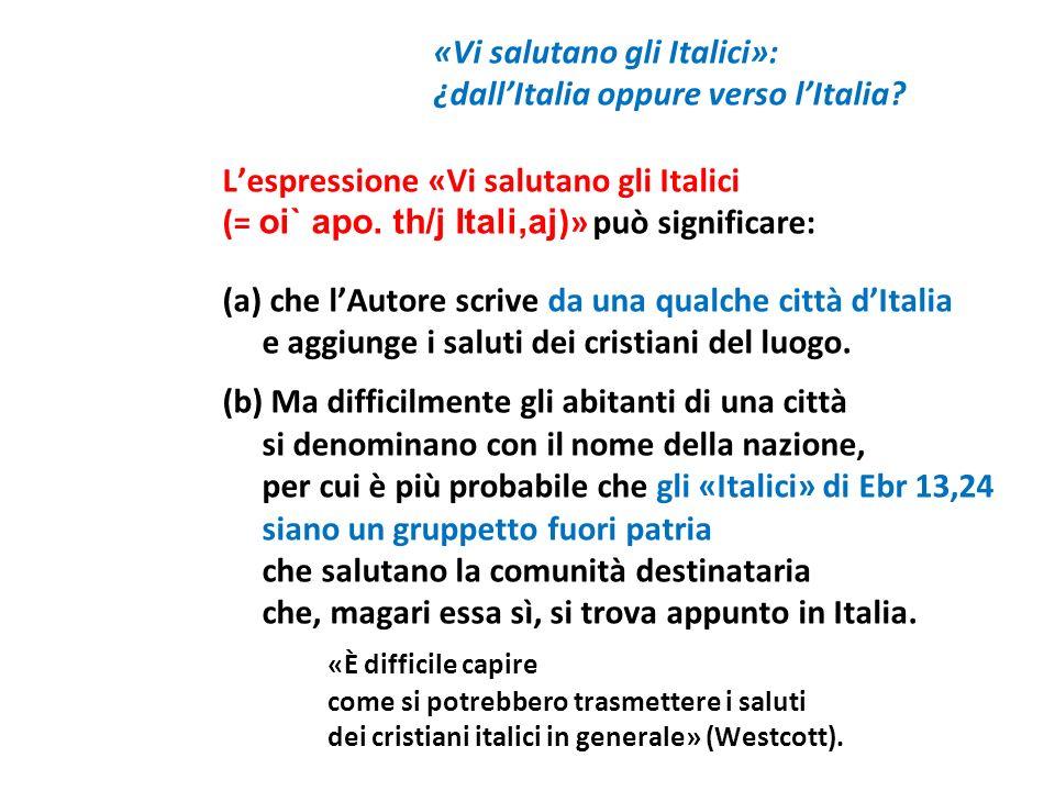 ¿dall'Italia oppure verso l'Italia
