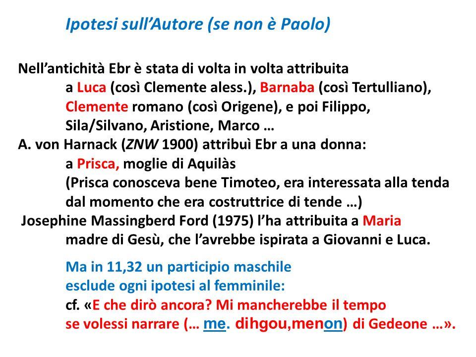Ipotesi sull'Autore (se non è Paolo)
