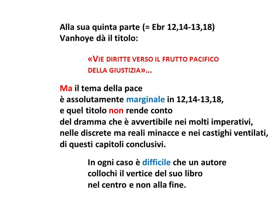 Alla sua quinta parte (= Ebr 12,14-13,18)