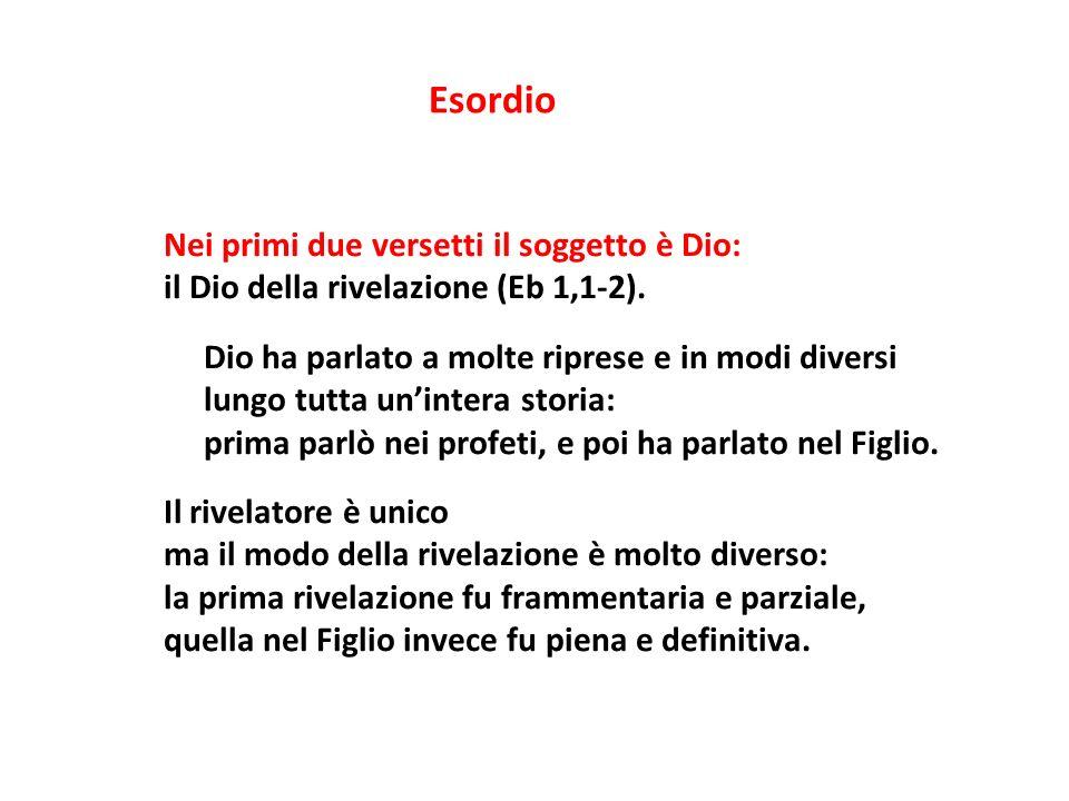 Esordio Nei primi due versetti il soggetto è Dio: