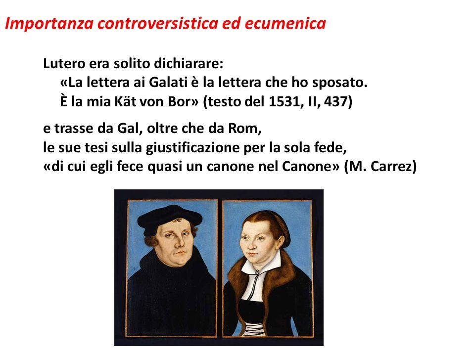 Importanza controversistica ed ecumenica