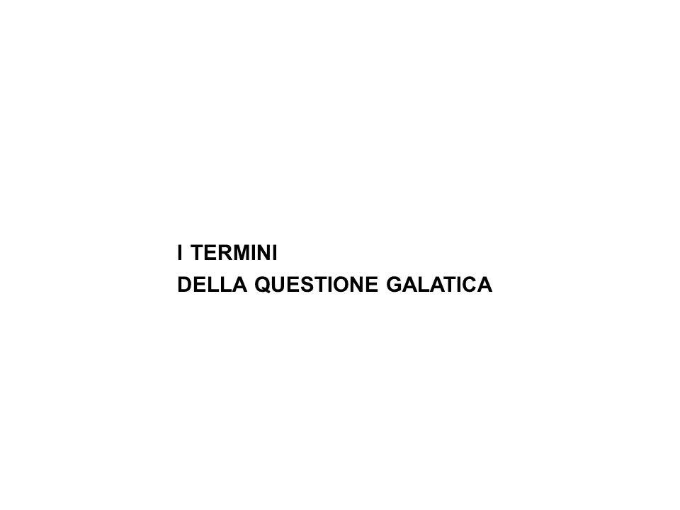 i termini della questione galatica