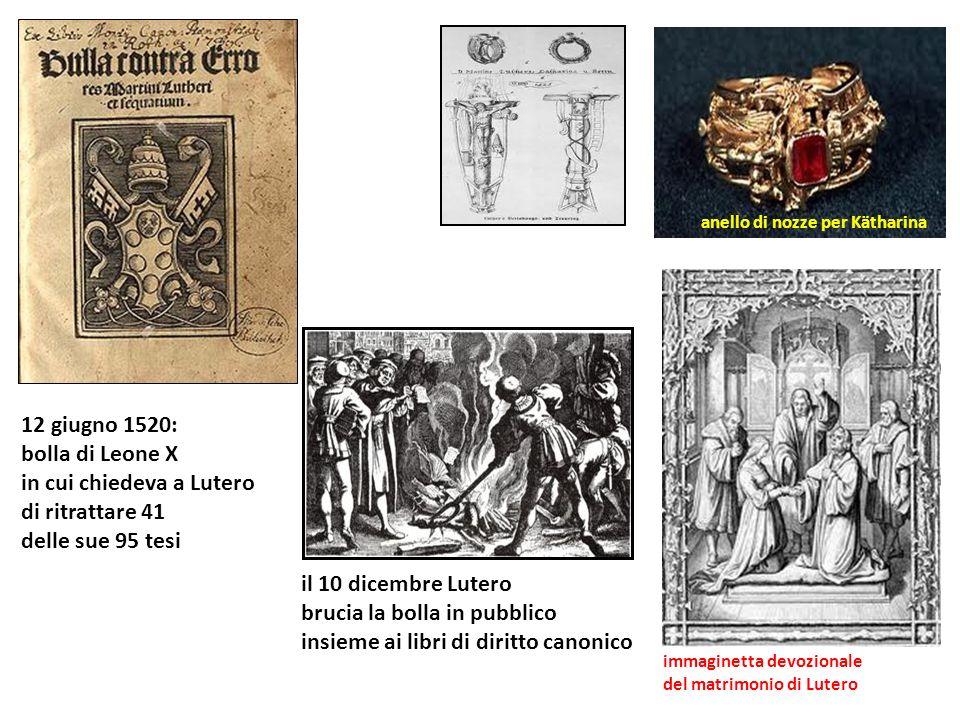 in cui chiedeva a Lutero di ritrattare 41 delle sue 95 tesi