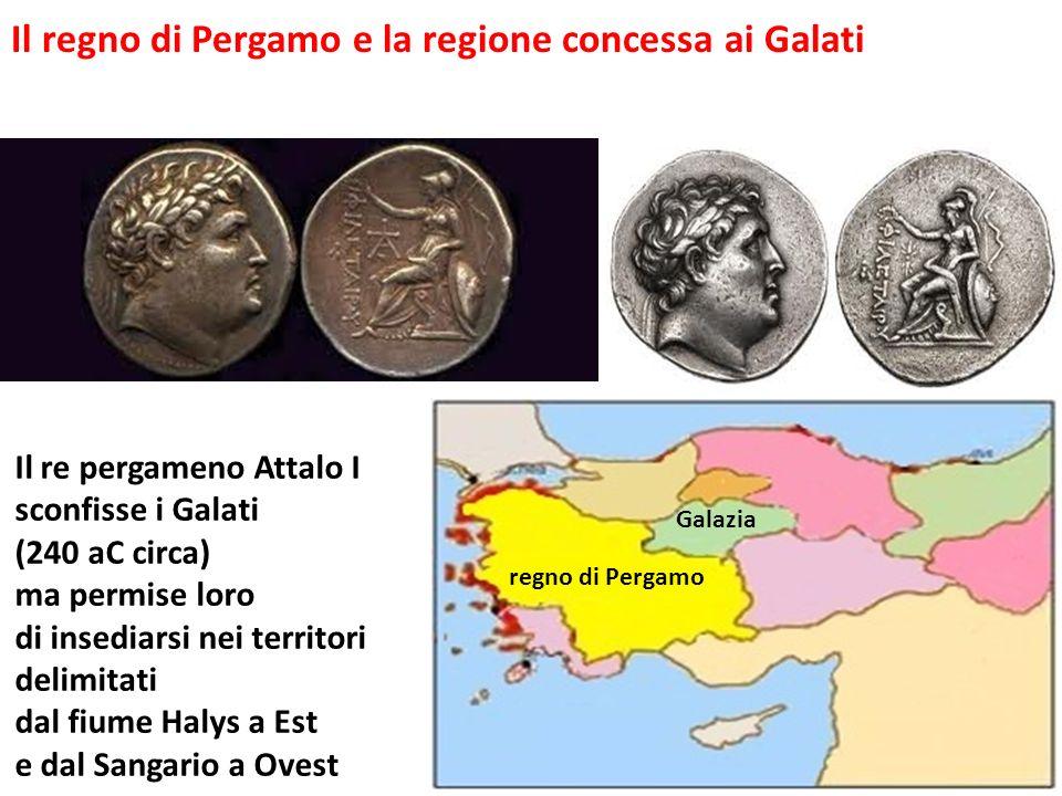 Il regno di Pergamo e la regione concessa ai Galati