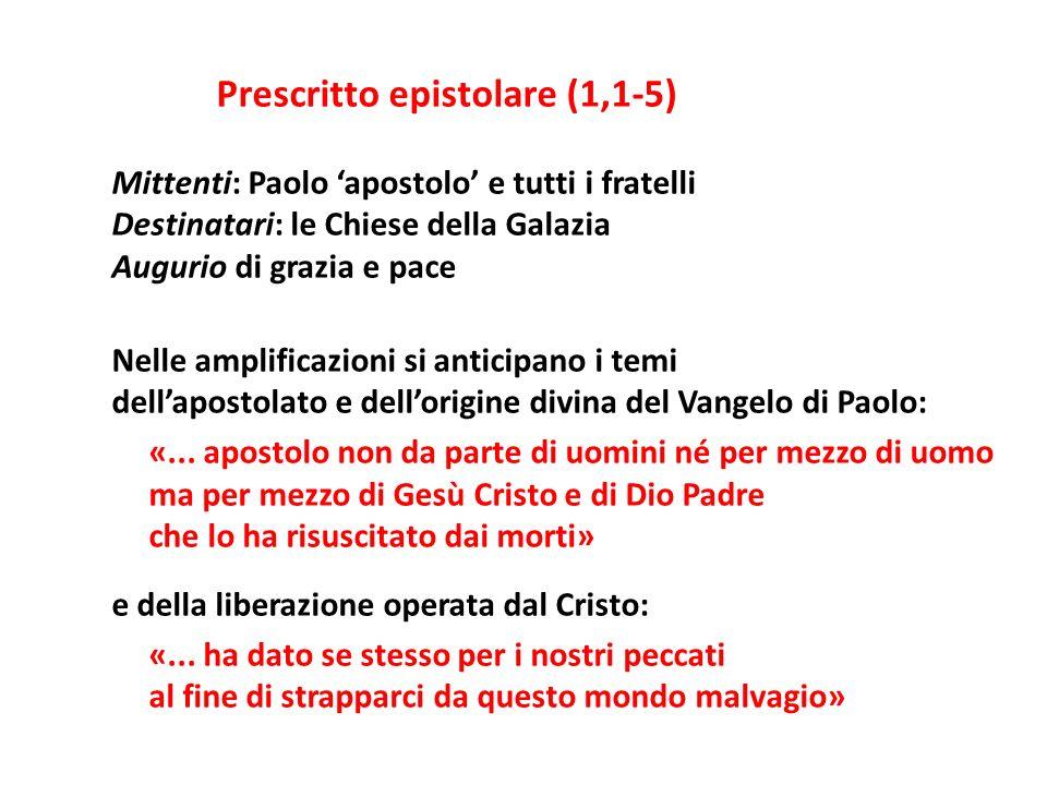 Mittenti: Paolo 'apostolo' e tutti i fratelli