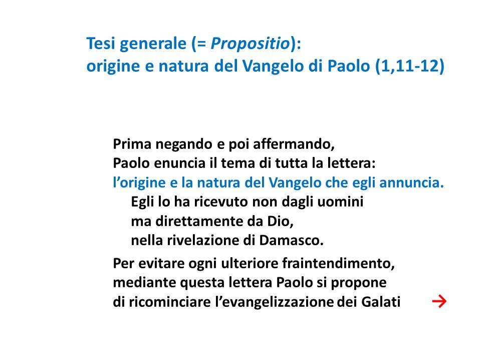 Tesi generale (= Propositio):