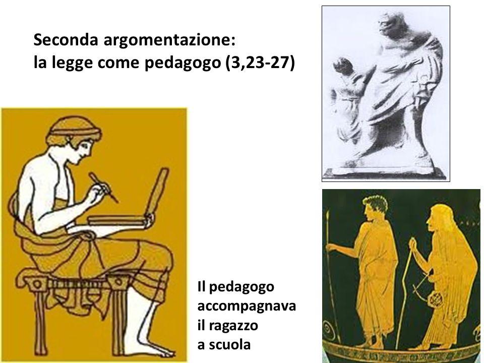 Seconda argomentazione: la legge come pedagogo (3,23-27)