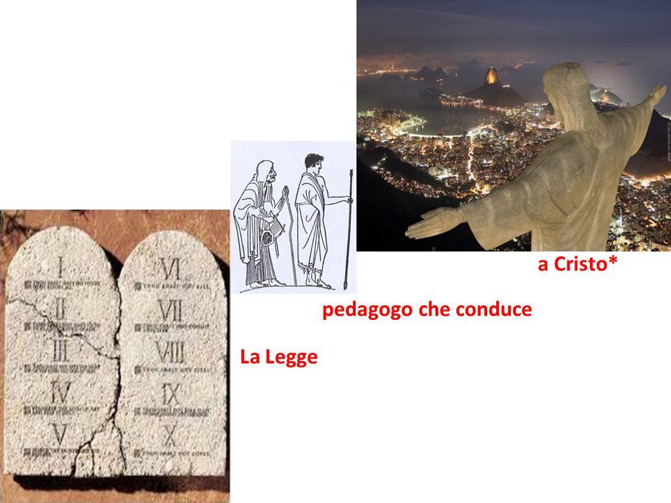 a Cristo* pedagogo che conduce La Legge