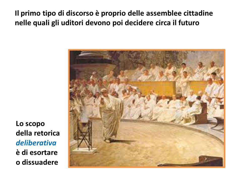 Il primo tipo di discorso è proprio delle assemblee cittadine