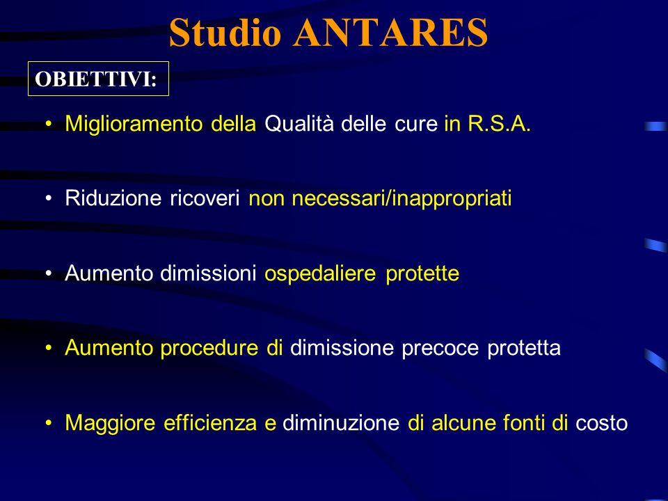 Studio ANTARES OBIETTIVI:
