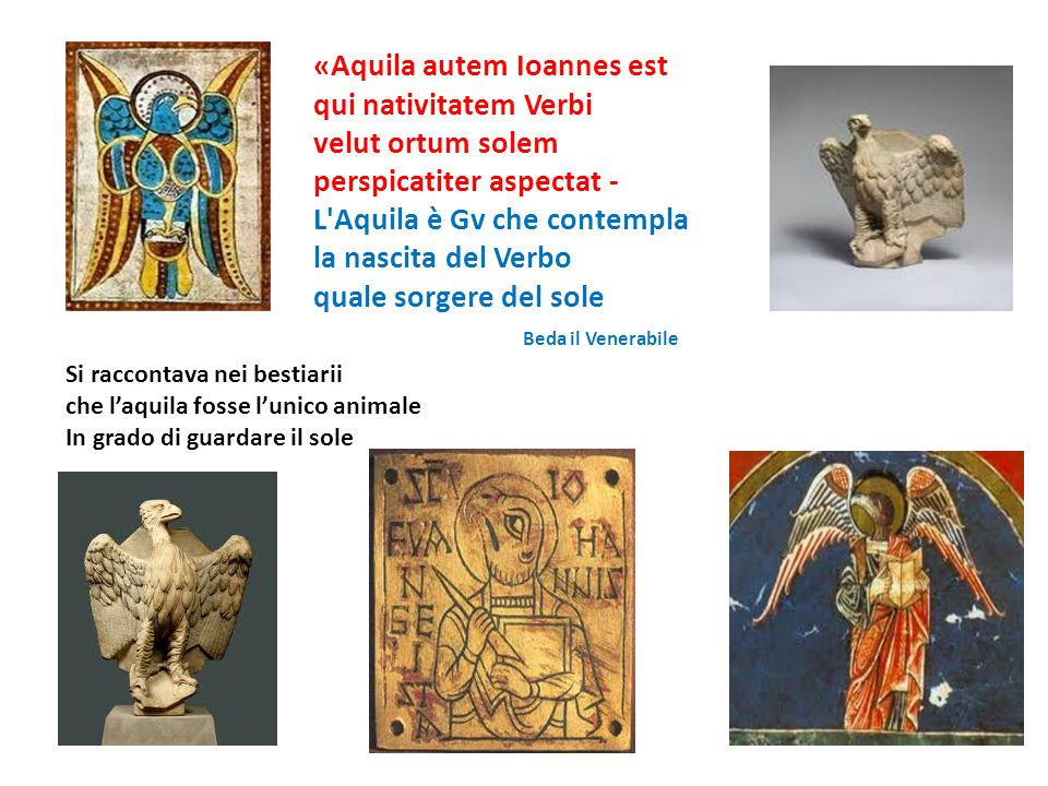 «Aquila autem Ioannes est qui nativitatem Verbi velut ortum solem