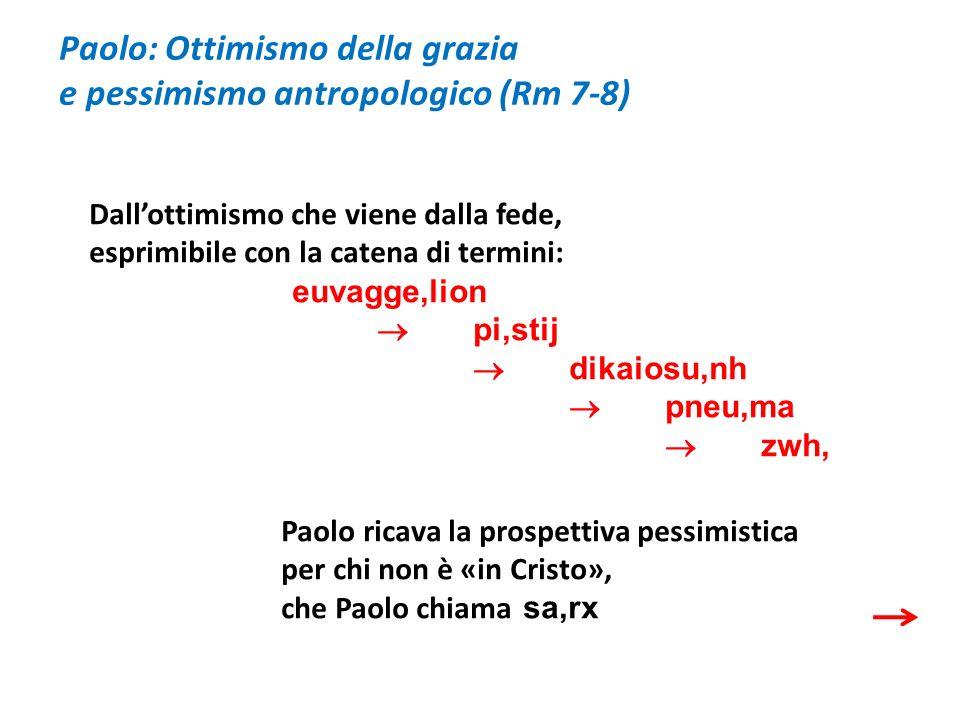 Paolo: Ottimismo della grazia e pessimismo antropologico (Rm 7-8)