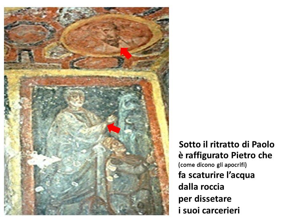 Sotto il ritratto di Paolo è raffigurato Pietro che