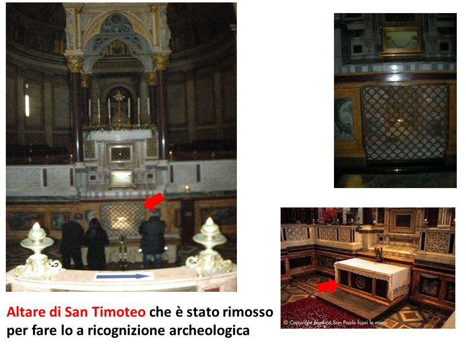Altare di San Timoteo che è stato rimosso