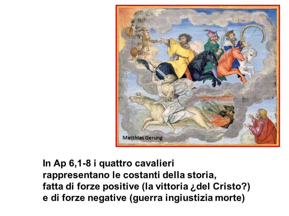 In Ap 6,1-8 i quattro cavalieri
