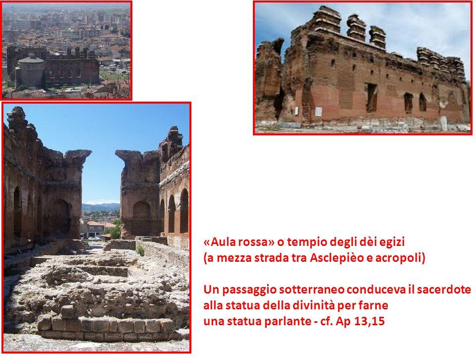 «Aula rossa» o tempio degli dèi egizi