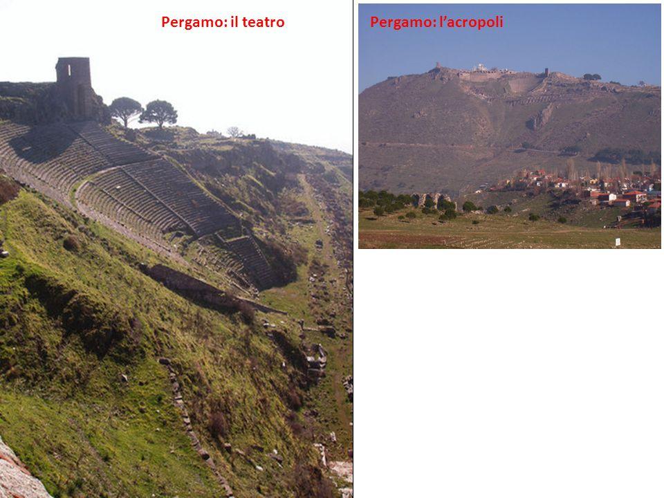 Pergamo: il teatro Pergamo: l'acropoli