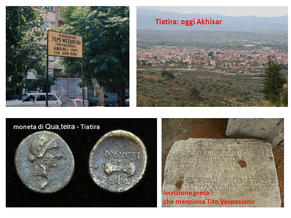 Tiatira: oggi Akhisar moneta di Qua,teira - Tiatira iscrizione greca