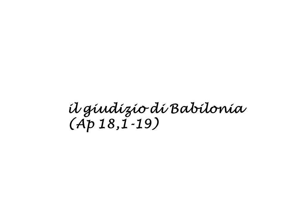 il giudizio di Babilonia