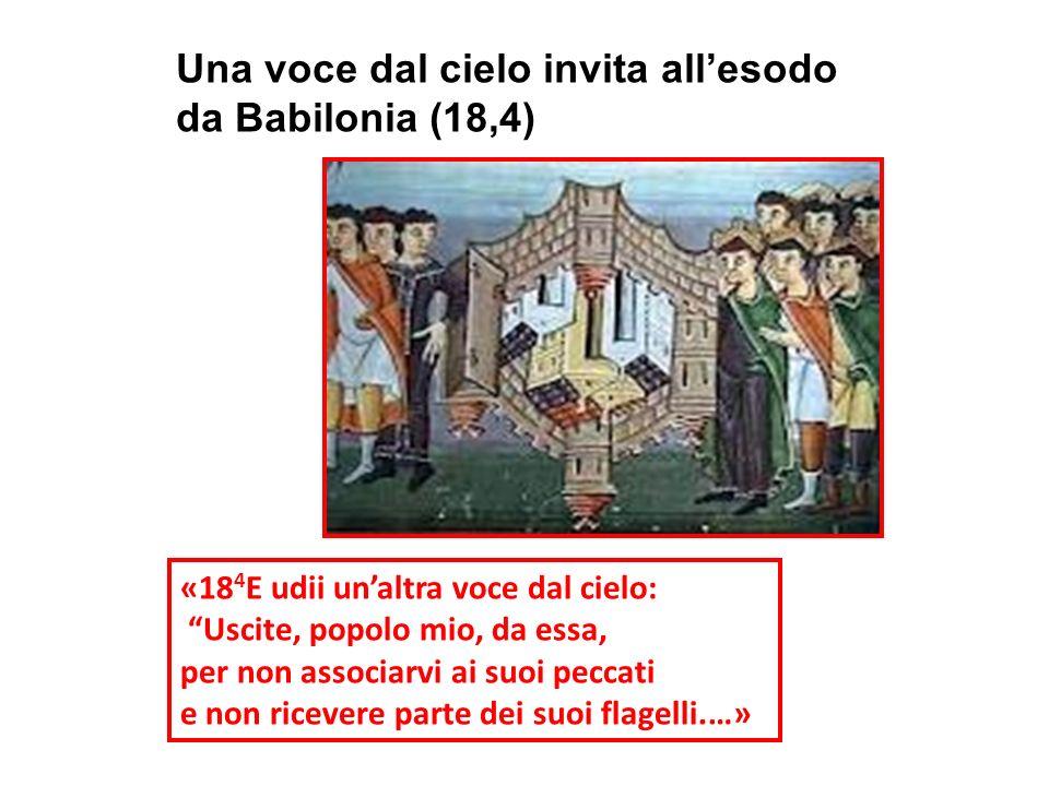 Una voce dal cielo invita all'esodo da Babilonia (18,4)