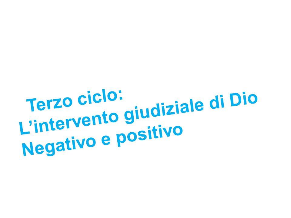 Terzo ciclo: L'intervento giudiziale di Dio Negativo e positivo