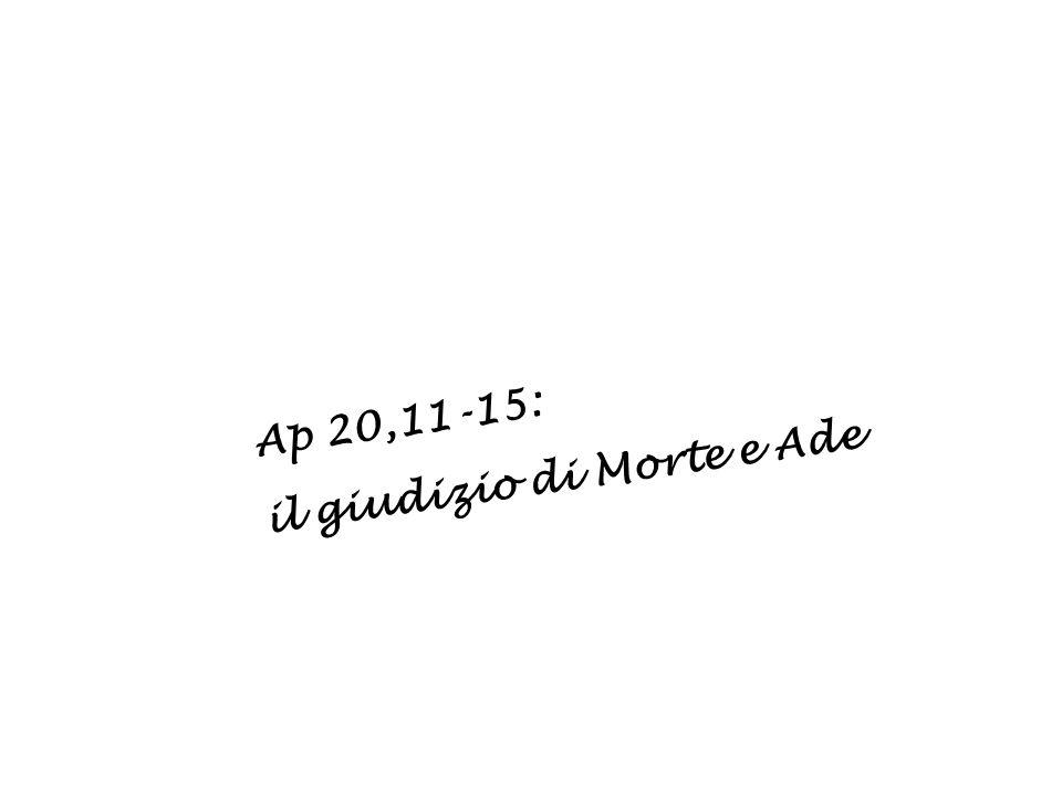Ap 20,11-15: il giudizio di Morte e Ade