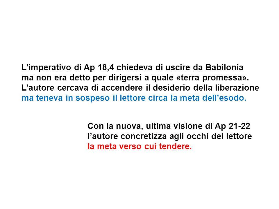 L'imperativo di Ap 18,4 chiedeva di uscire da Babilonia