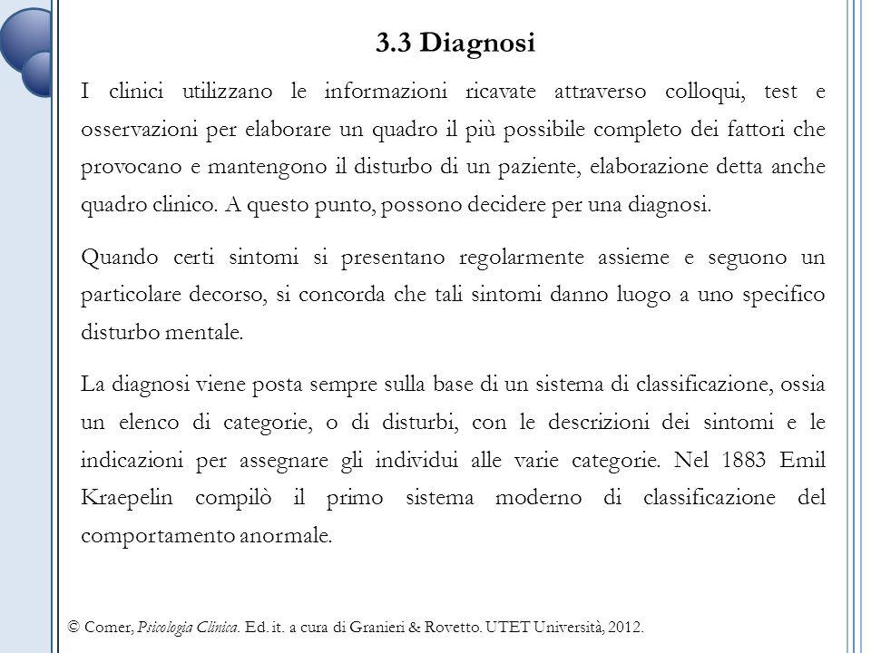 3.3 Diagnosi