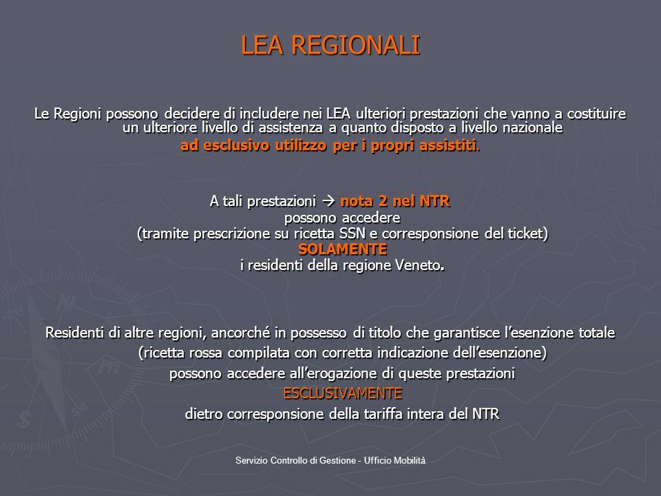 LEA REGIONALI