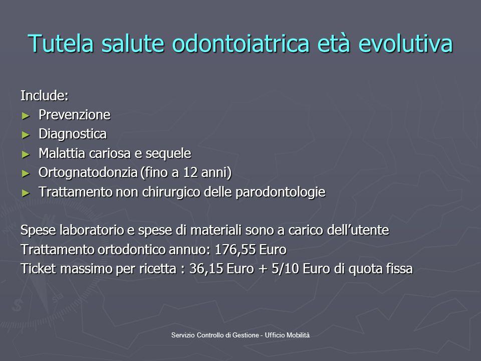 Tutela salute odontoiatrica età evolutiva