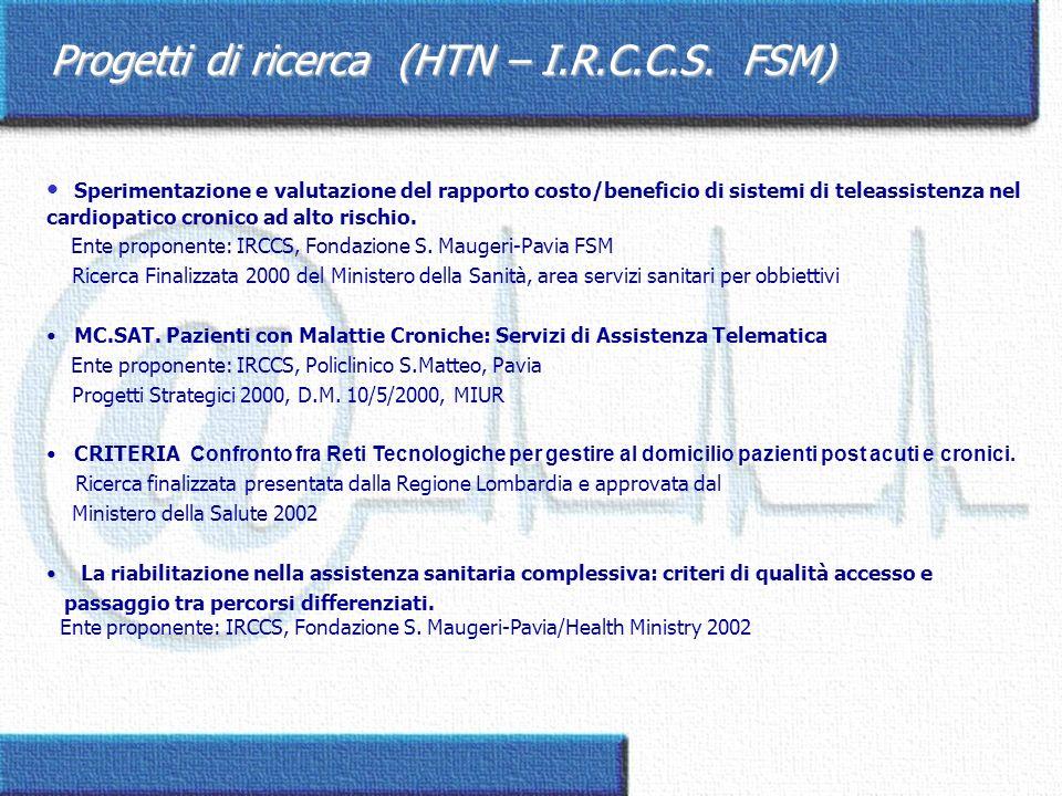 Progetti di ricerca (HTN – I.R.C.C.S. FSM)
