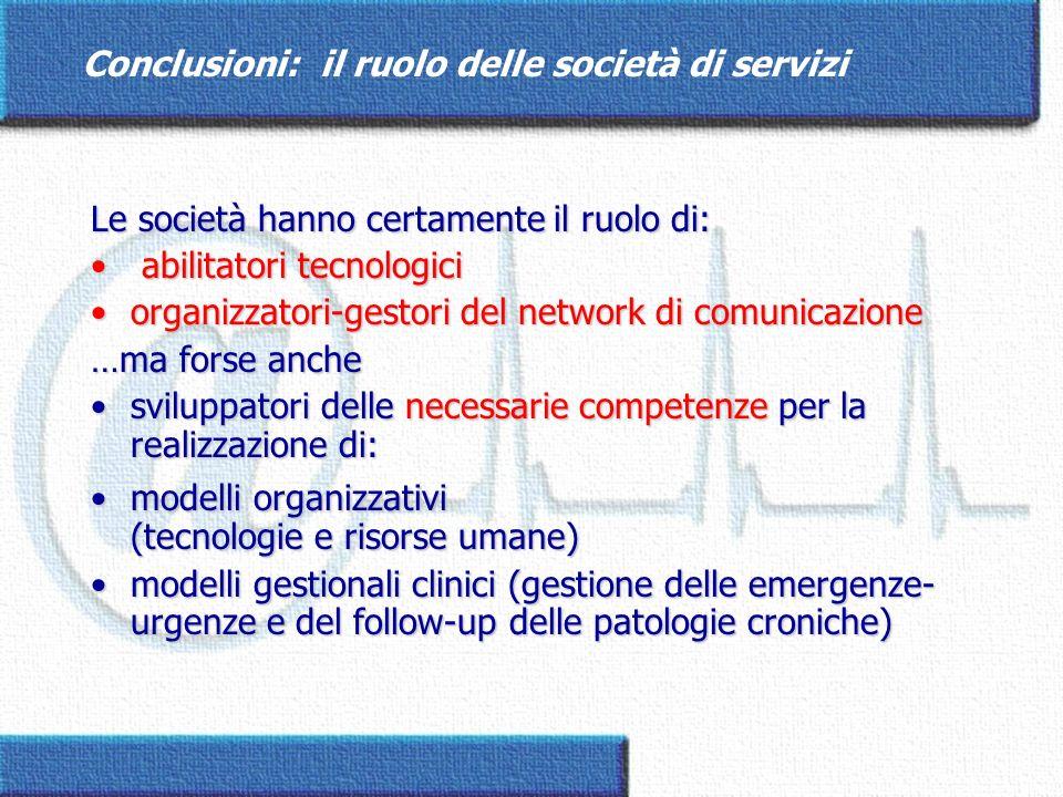 Conclusioni: il ruolo delle società di servizi