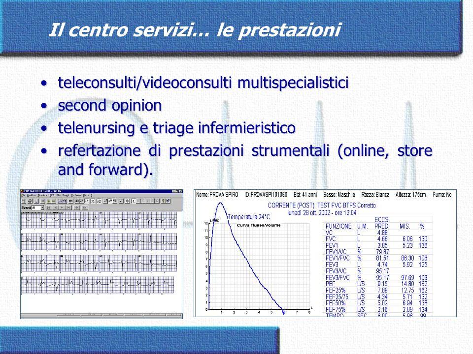 Il centro servizi… le prestazioni