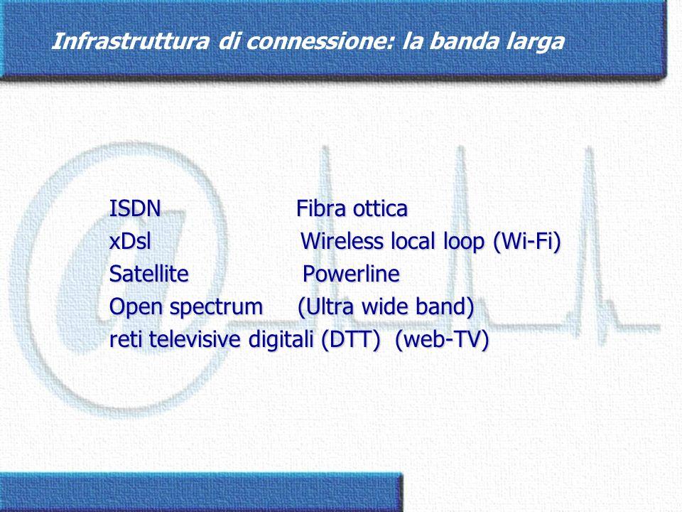 Infrastruttura di connessione: la banda larga