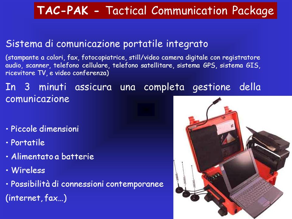 TAC-PAK - Tactical Communication Package