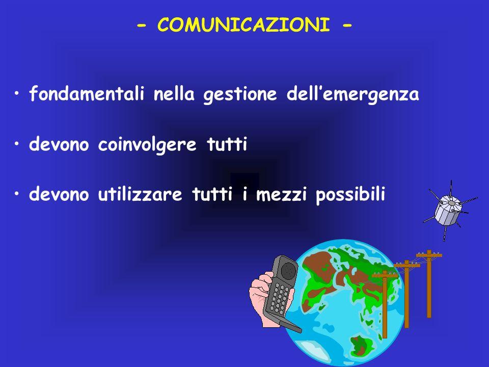 - COMUNICAZIONI - fondamentali nella gestione dell'emergenza