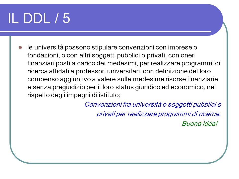 IL DDL / 5