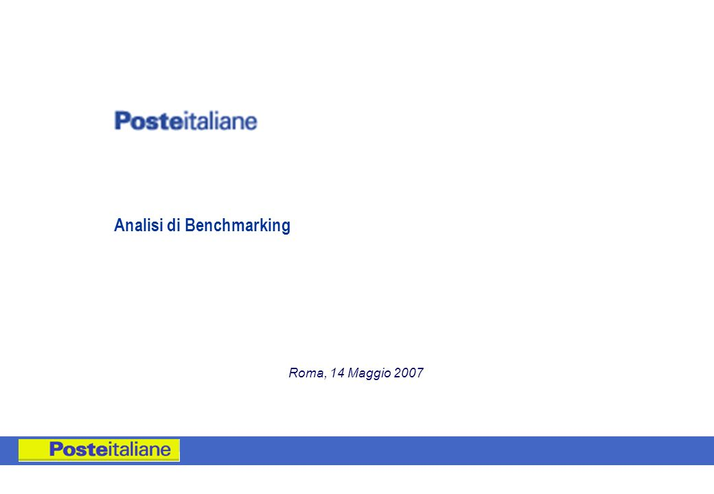 Analisi di Benchmarking