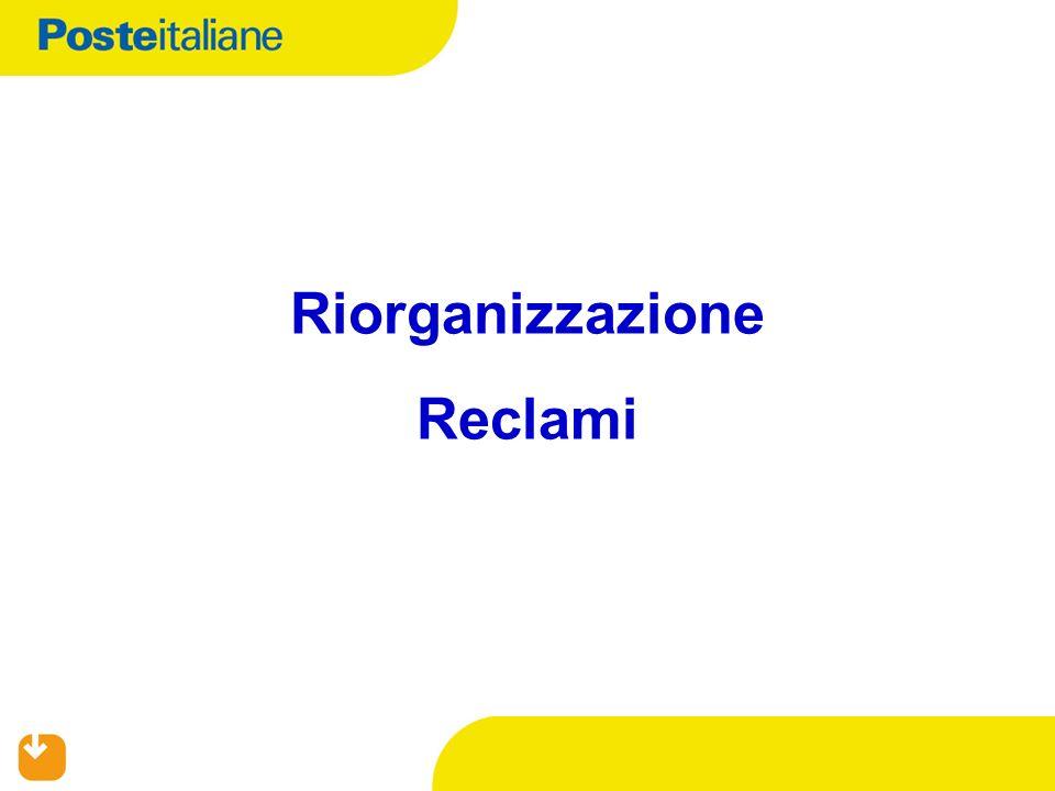Riorganizzazione Reclami