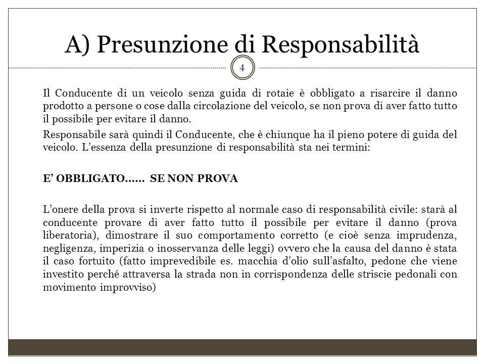 A) Presunzione di Responsabilità