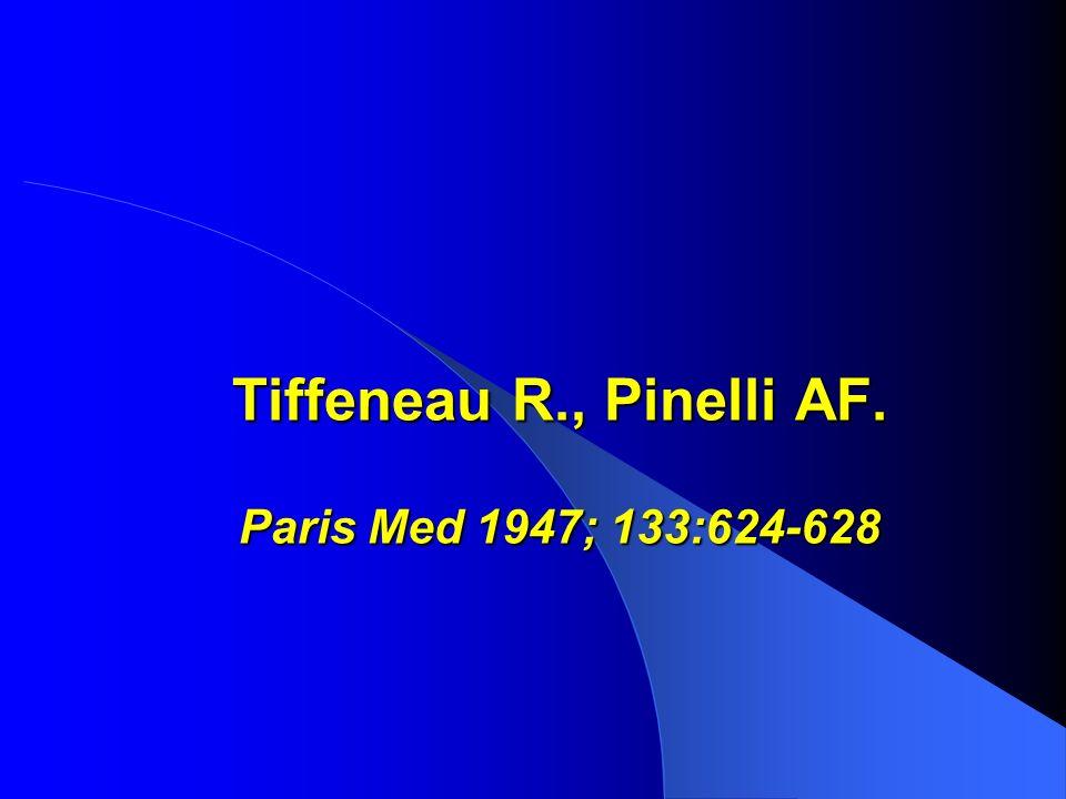 Tiffeneau R., Pinelli AF. Paris Med 1947; 133:624-628