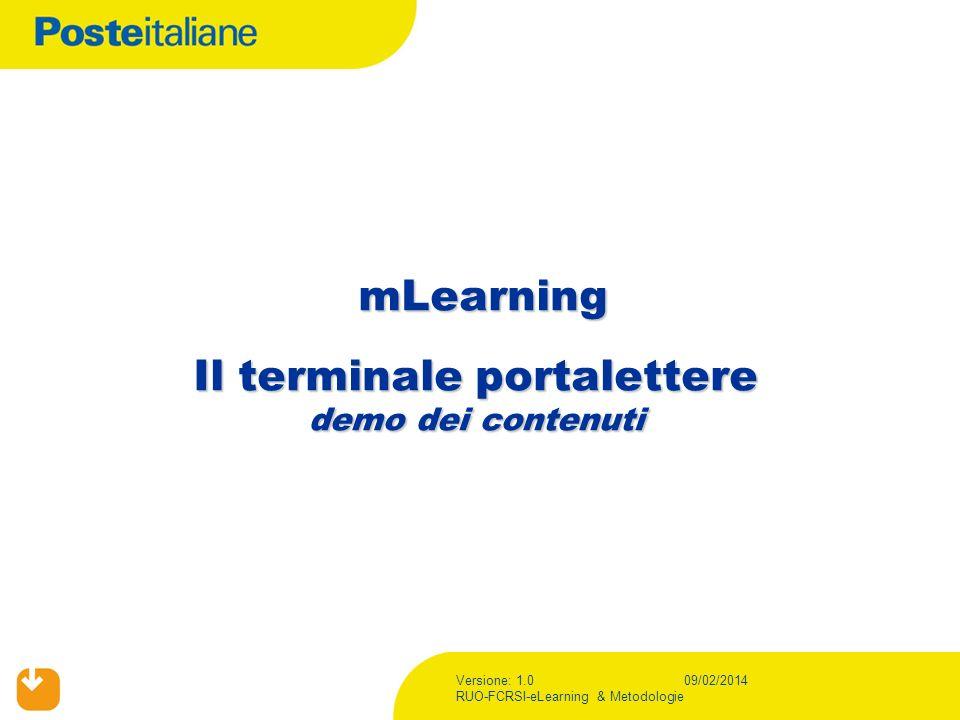 mLearning Il terminale portalettere demo dei contenuti