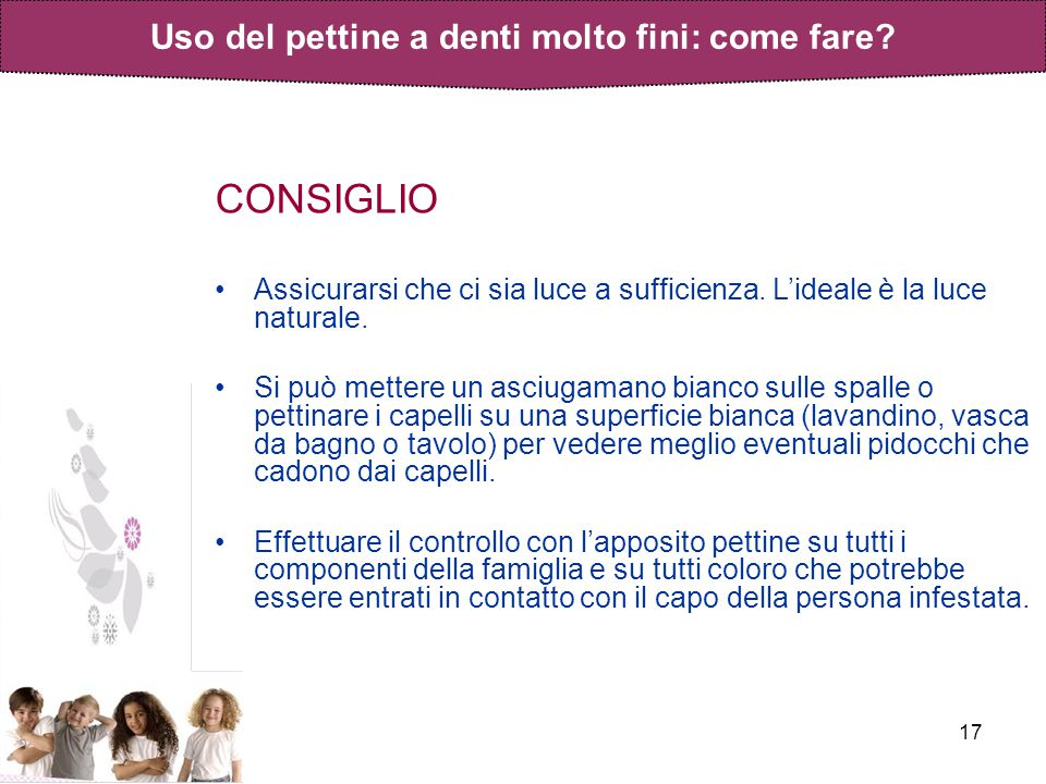 Uso del pettine a denti molto fini: come fare