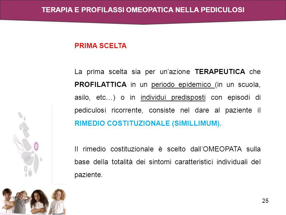 TERAPIA E PROFILASSI OMEOPATICA NELLA PEDICULOSI