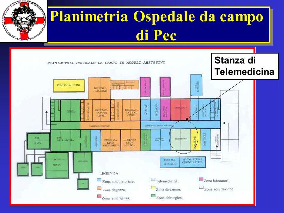 Planimetria Ospedale da campo di Pec