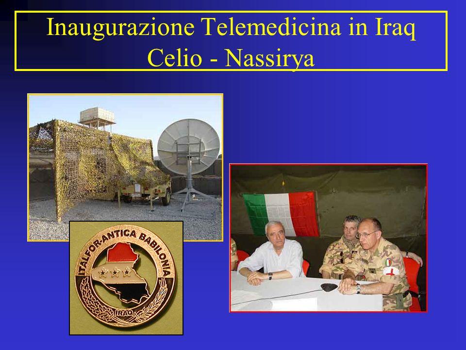 Inaugurazione Telemedicina in Iraq Celio - Nassirya