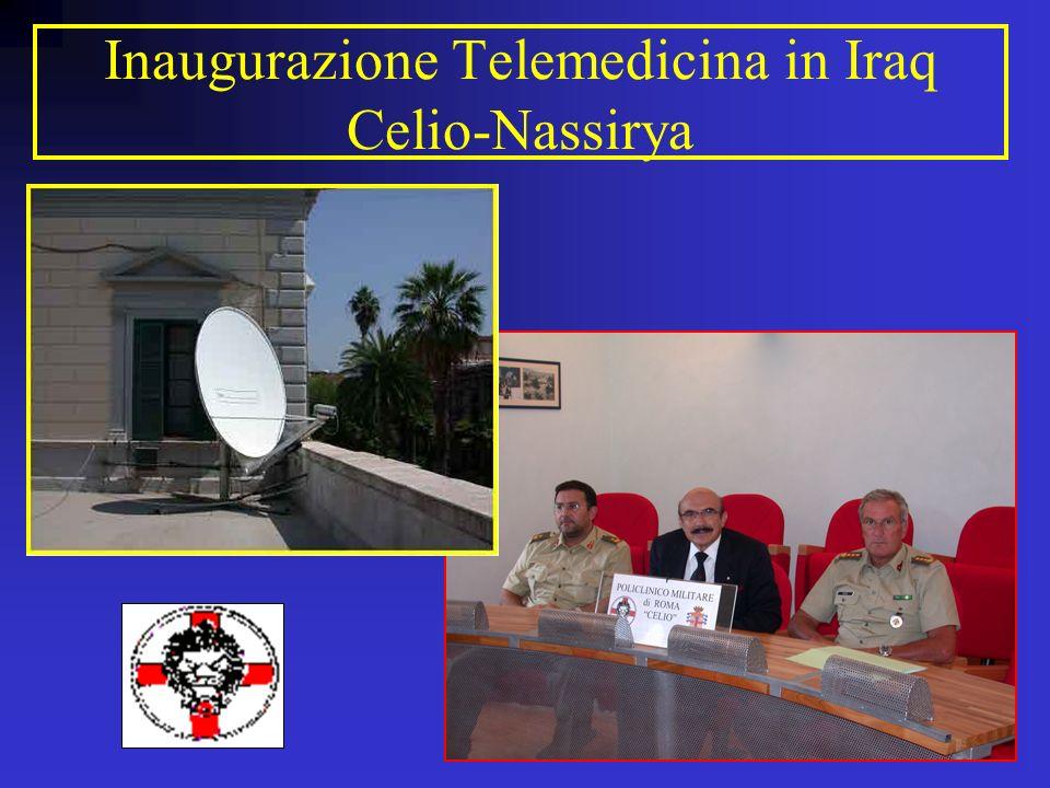 Inaugurazione Telemedicina in Iraq Celio-Nassirya
